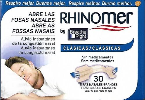 Rhinomer Tiras Nasales Breathe Right 30 tiras peq/med
