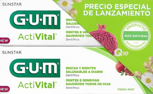GUM ACTIVITAL PASTA DENTAL DUPLO 2 X 75 ML