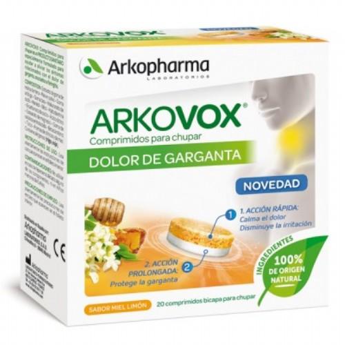 ARKOVOX DOLOR DE GARGANTA 20 COMPRIMIDOS