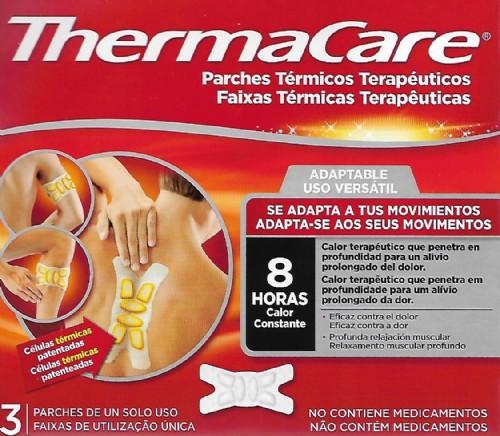 THERMACARE 3  PARCHES TÉRMICOS TERAPÉUTICOS ADAPTABLES