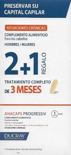 DUCRAY ANACAPS PROGRESSIV 3x30 CÁPSULAS (2+1)