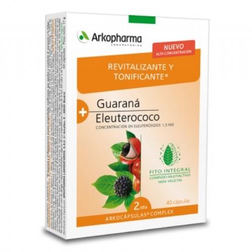 Arkocápsulas Complex Guaraná y Eleuterococo 40 caásulas