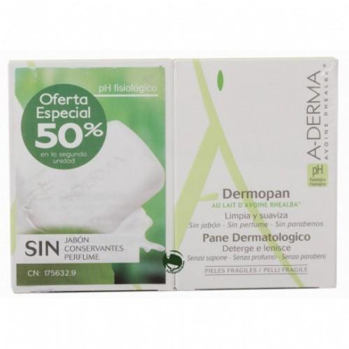 A-derma Dermopan Extracto Avena Duplo 2 pastillas de 100 g