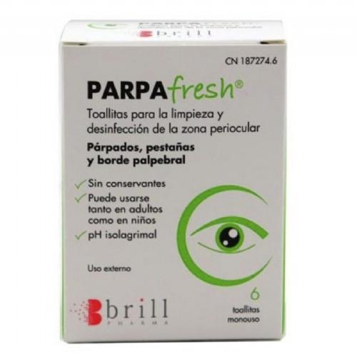 Parpafresh 6 Toallitas de Limpieza de Párpados
