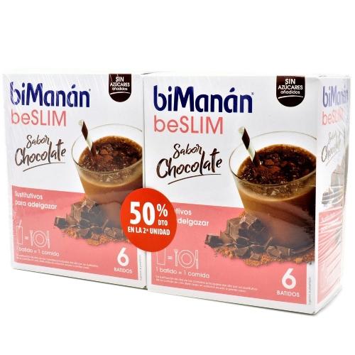 Bimanan BeSlim Batidos Chocolate 2 x 6 sobres