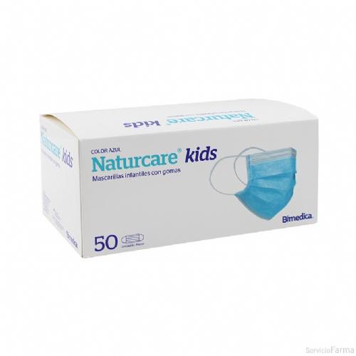 Mascarilla Quirúrgica Infantil Naturcare 50 unidades