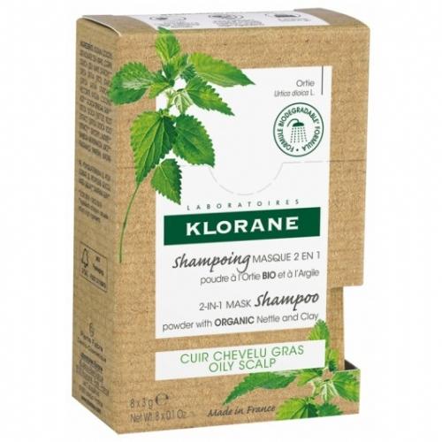 Klorane Champú-Mascarilla 2 en 1 a la Ortiga 8 sobres de 3 g