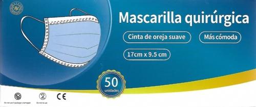 Mascarilla Quirurgica Adulto 50 unidades