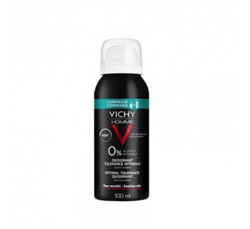 Vichy Homme Desodorante Spray Tolerancia Óptima 100 ml
