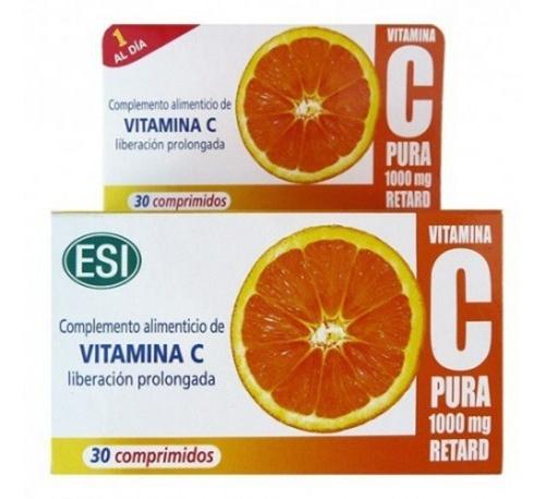 Vitamina C Pura Retard 1000 mg 30 comprimidos
