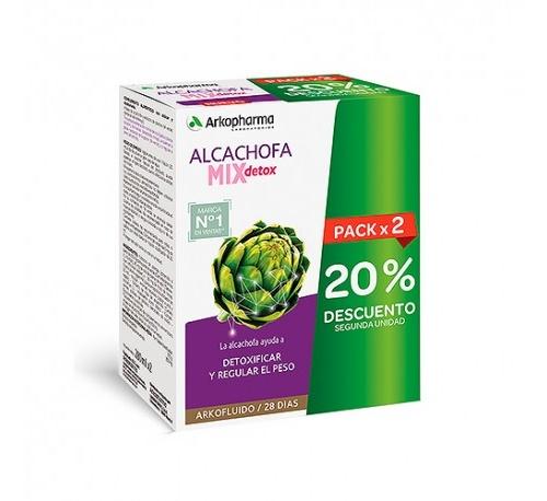 Arkofluido Alcachofa Mix Detox 2 x 280 ml