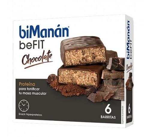 Bimanan beFit chocolate 6 barritas