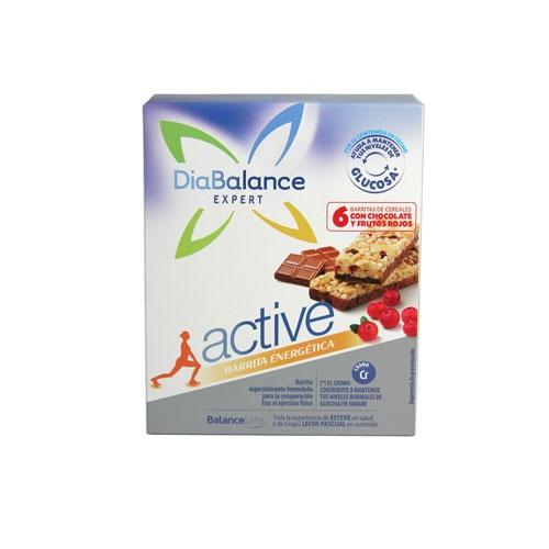 DIABALANCE EXPERT ACTIVE - BARRITA ENERGETICA (6 BAR CEREALES C/ CHOCOLATE/ FRUTOS ROJOS)