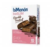 Bimanan beSlim 10 barritas sabor chocolate fondant