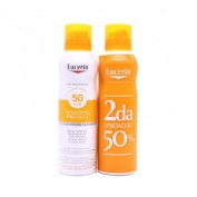 EUCERIN SPRAY 50+TRANSPARENT 2ºUNIDAD AL 50% 200ML