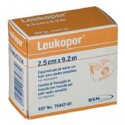 Esparadrapo hipoalergico - leukopor papel (1 unidad con dispensador 9,2 m x 2,5 cm)
