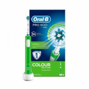 Cepillo dental electrico recargable - oral b pro 600 cross action (colour verde)