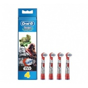 Cepillo dental electrico infantil recambios - oral-b stages (star wars 4 recambios)