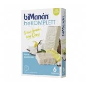 Bimanan komplett - chocolate blanco sabor limon con coco (6 barritas de 35 g)