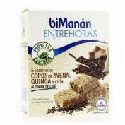Bimanan entrehoras barritas - copos de avena, quinoa y chia al toque cafe (5 u)