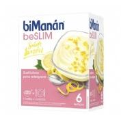 Bimanan beSlim  6 natillas sabor limón