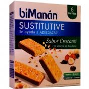 Bimanan sustitutive barrita - crocanti con trozos de avellana (31 g)