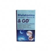 Melatonina con triptofano y vitamina b6 & go (30 capsulas)