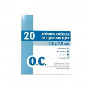 OC Compresa Estéril Tejido sin tejer 7,5 cm x 7,5 cm 20 unidades