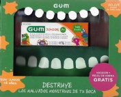 Gum Junior Pack Pasta, Cepillo, Colutorio, Necesser y Reloj de arena