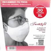Filtros Mascarilla Adulto Talla XL 30 unidades Fantexfil