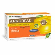 Arkoreal Jalea Real Mega Forte 2500 mg sin azúcar 20 ampollas bebibles