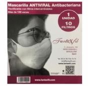 Mascarilla Antiviral Adulto Teja Algodón Fantexfil