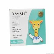 Mascarilla FFP2 Infantil Blanca YWSH 10 unidades