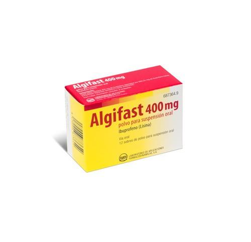 ALGIFAST 400 mg POLVO PARA SUSPENSION ORAL, 12 sobres
