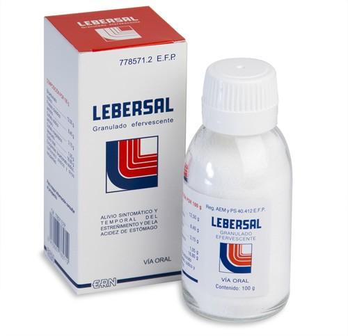 LEBERSAL GRANULADO EFERVESCENTE, 1 frasco de 100 g