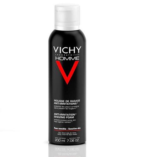 Vichy Homme Espuma de Afeitar Piel Sensible 200 ml