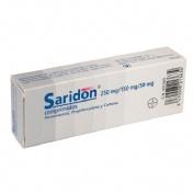 SARIDON 250 mg/150 mg/50 mg COMPRIMIDOS , 20 comprimidos