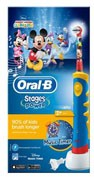 Cepillo dental electrico recargable infantil - oral-b stages (mickey +3 años suave)
