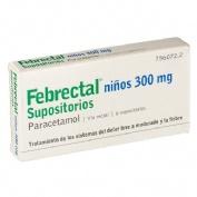 FEBRECTAL NIÑOS 300 mg SUPOSITORIOS , 6 supositorios